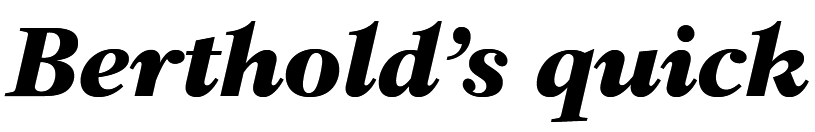 Chasseur Bold Italic