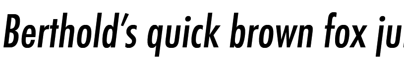 Futura Pro Medium Condensed Oblique
