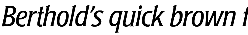 Laudatio BQ Light Condensed Italic